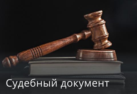 Судебный документ