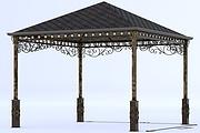 Сделаю 3d модель кованных лестниц, оград, перил, решеток, навесов 49 - kwork.ru