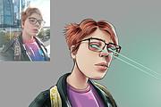 Иллюстрационный портрет по фотографии в стилях Манга или Аниме 36 - kwork.ru
