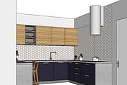 Дизайн-проект кухни. 3 варианта 47 - kwork.ru