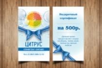 Разработаю макет визитки 191 - kwork.ru
