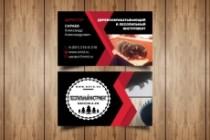 Разработаю макет визитки 188 - kwork.ru