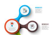 Набор инфографики. 13 тематик, 800 шаблонов, 2 пакета иконок 64 - kwork.ru
