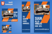 Анимационные HTML5 баннеры для Google Ads 6 - kwork.ru