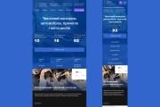 Веб-дизайн страницы сайта PRO уровня 21 - kwork.ru