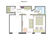 Планировочные решения. Планировка с мебелью и перепланировка 194 - kwork.ru