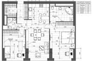 Разработка 3 вариантов планировки квартиры 32 - kwork.ru