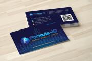 Дизайн визитки с исходниками 194 - kwork.ru