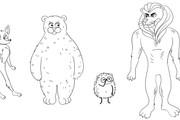 Нарисую мультяшных персонажей 35 - kwork.ru