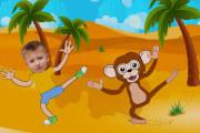 Персональный мультфильм- Обезьянка ест бананы 11 - kwork.ru