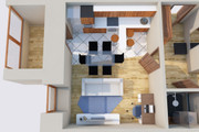 Создам планировку дома, квартиры с мебелью 103 - kwork.ru