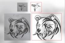 Отрисовка в векторе, формат Coreldraw, по рисунку, фото, сканированию 201 - kwork.ru