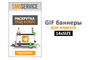 Сделаю 2 качественных gif баннера 113 - kwork.ru
