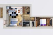 Создам планировку дома, квартиры с мебелью 102 - kwork.ru