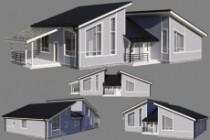 3d. Архитектурная визуализация. Дома. Экстерьер 14 - kwork.ru