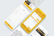 Разработка дизайна мобильного приложения. Эконом вариант 6 - kwork.ru