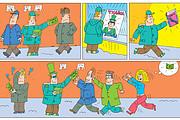 Нарисую стрип для газеты, журнала, блога, сайта или рекламы 38 - kwork.ru