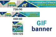 Сделаю 2 качественных gif баннера 167 - kwork.ru