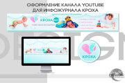Оформление канала Ютуб. Дизайн шапки Youtube 20 - kwork.ru