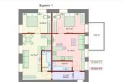 Планировочные решения. Планировка с мебелью и перепланировка 135 - kwork.ru