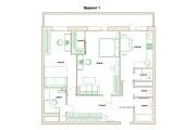 Планировочные решения. Планировка с мебелью и перепланировка 209 - kwork.ru