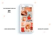 Стилизация 90-ых, PSD шаблон бесконечной ленты инстаграм на 30 постов 16 - kwork.ru