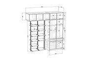 Проект корпусной мебели, кухни. Визуализация мебели 117 - kwork.ru