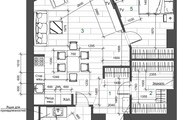 Разработка 3 вариантов планировки квартиры 35 - kwork.ru