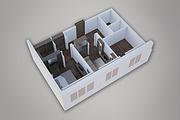 Сделаю 3д визуализацию плана для дома, квартиры 32 - kwork.ru