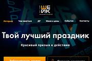 Дизайн страницы Landing Page - Профессионально 131 - kwork.ru