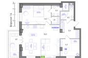 Планировка квартиры или жилого дома, перепланировка и визуализация 120 - kwork.ru