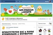 Оформлю группу ВК - обложка, баннер, аватар, установка 160 - kwork.ru