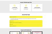 Дизайн страницы Landing Page - Профессионально 161 - kwork.ru