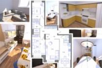 Планировка квартиры или жилого дома, перепланировка и визуализация 207 - kwork.ru