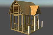 Сделаю 3D проект каркасного дома 19 - kwork.ru