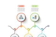 Набор инфографики. 13 тематик, 800 шаблонов, 2 пакета иконок 76 - kwork.ru