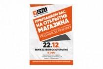 Листовка или флаер 2 варианта 155 - kwork.ru