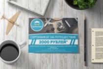 Листовка или флаер 2 варианта 137 - kwork.ru