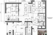 Разработка 3 вариантов планировки квартиры 48 - kwork.ru