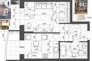 Разработка 3 вариантов планировки квартиры 44 - kwork.ru