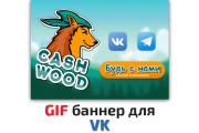 Сделаю 2 качественных gif баннера 112 - kwork.ru