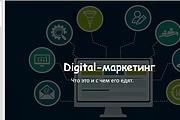 Стильный дизайн презентации 843 - kwork.ru