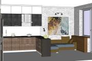 Дизайн-проект кухни. 3 варианта 36 - kwork.ru