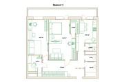 Планировочные решения. Планировка с мебелью и перепланировка 207 - kwork.ru