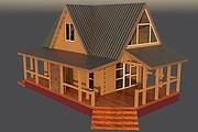 Сделаю 3D проект каркасного дома 21 - kwork.ru