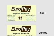 Сделаю макет визитки в векторе на основе фотографии или скана 6 - kwork.ru
