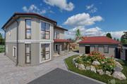 Фотореалистичная 3D визуализация экстерьера Вашего дома 263 - kwork.ru