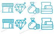 Нарисую 7 иконок в векторе 19 - kwork.ru