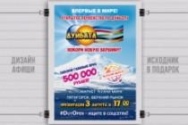 Разработаю дизайн рекламного постера, афиши, плаката 138 - kwork.ru