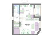Планировочные решения. Планировка с мебелью и перепланировка 148 - kwork.ru